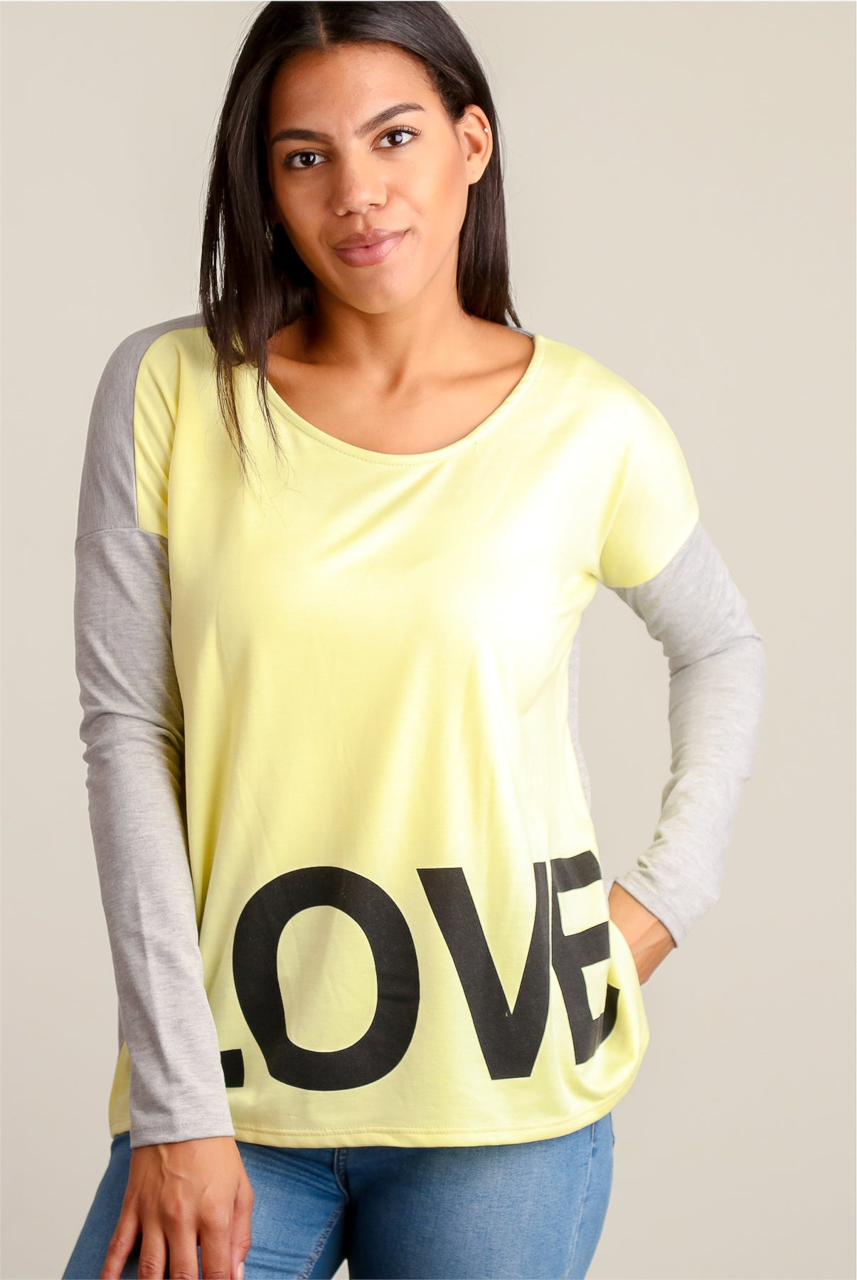 Yellow & Green Love Sweater