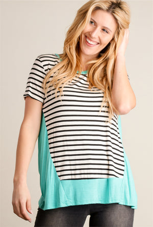 Mint & Stripe Blouse