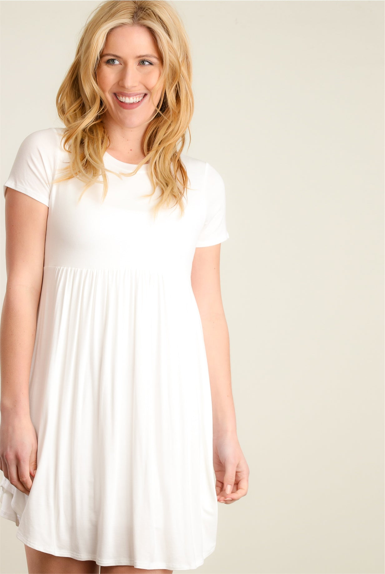 Ivory Babydoll Dress