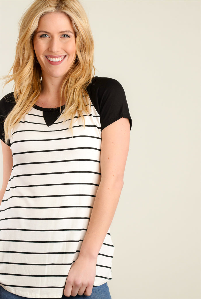 Black & White Stripe Blouse