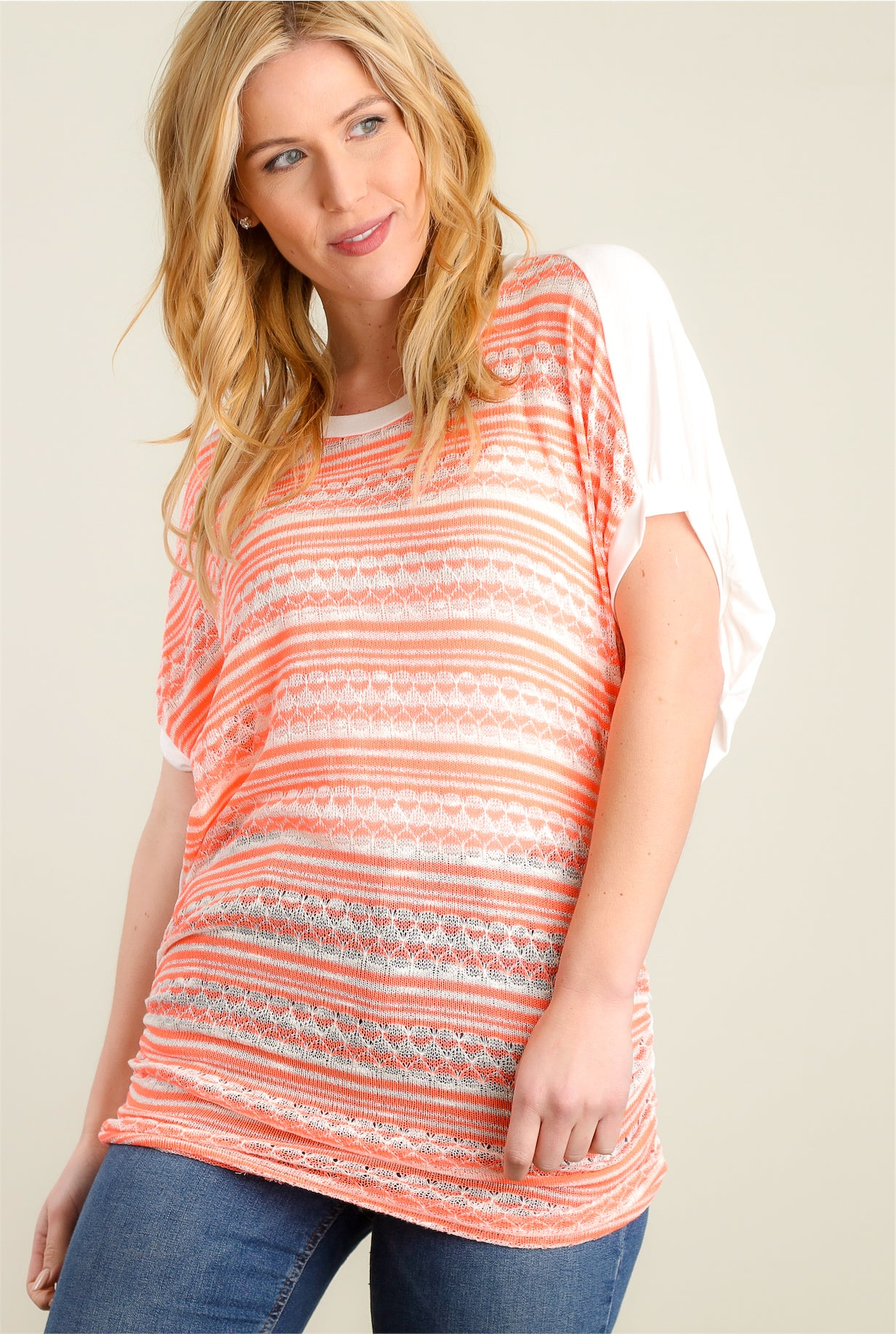 Neon Orange Design Tunic