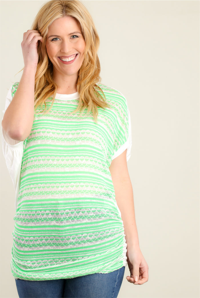 Neon Green Design Tunic