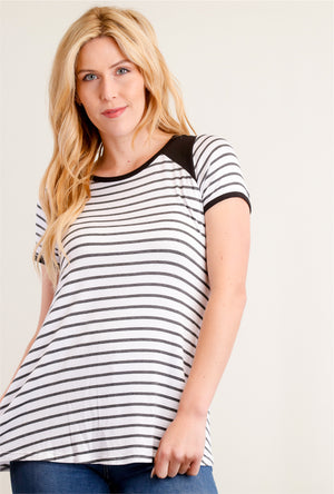 Black & Ivory Stripe Blouse