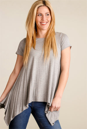 Grey Flowy Blouse