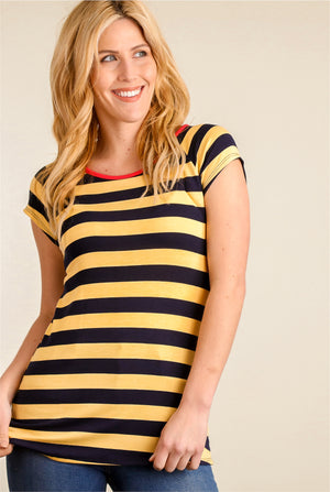 Yellow & Black Stripe Blouse