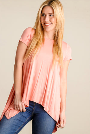 Peach Flowy Blouse