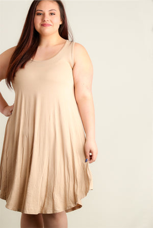 Plus Mocha Soft Tunic Dress