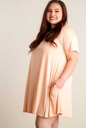 Plus Blush Pocketed Dress