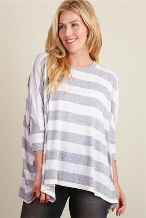 Grey Stripe Sweater