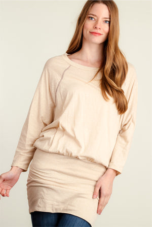 Taupe Marled Dolman Tunic