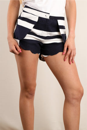 Navy Stripe Design Shorts