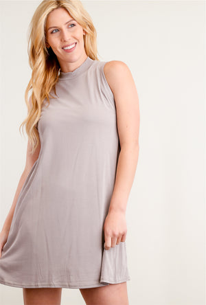 Taupe Solid Side Dress