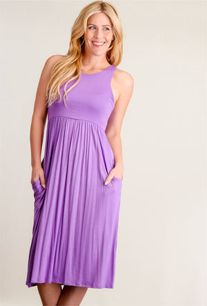 Purple Sleeveless Dress