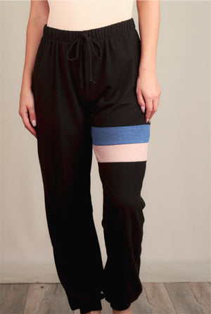Charcoal Stripe Thick Pants