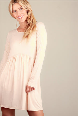 Taupe Babydoll Dress