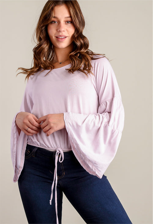 Off Blush Wide Sleeve Blouse