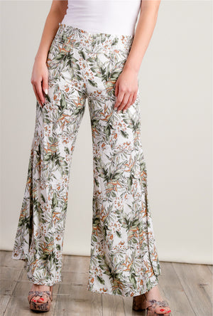 Ivory Floral Bottoms
