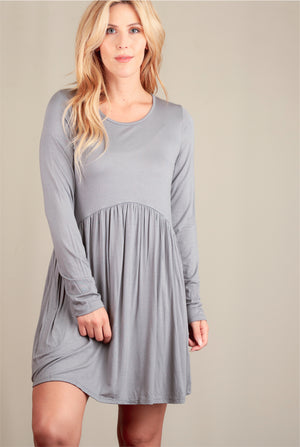 Silver Babydoll Dress