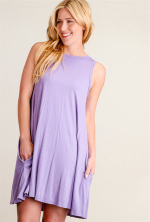 Light Purple Sleeveless Dress