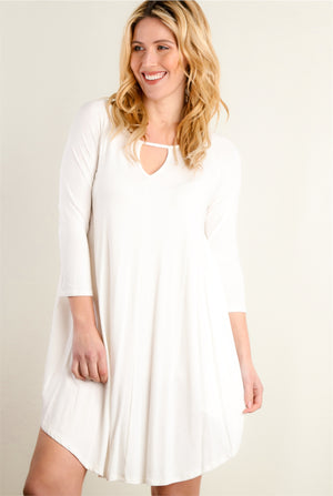 Ivory Key Hole Dress