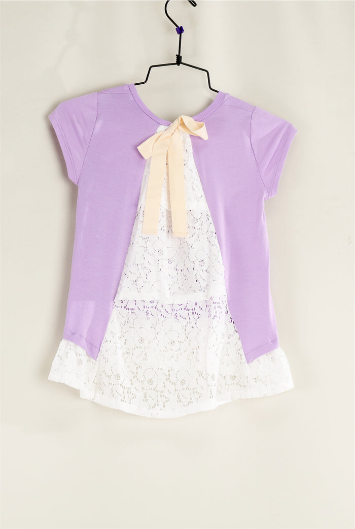 KIDS Purple Back Detail Top
