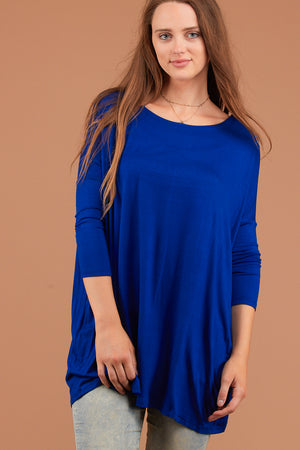Dark Royal Solid Tunic