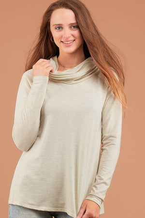 Off Beige Cowl Blouse