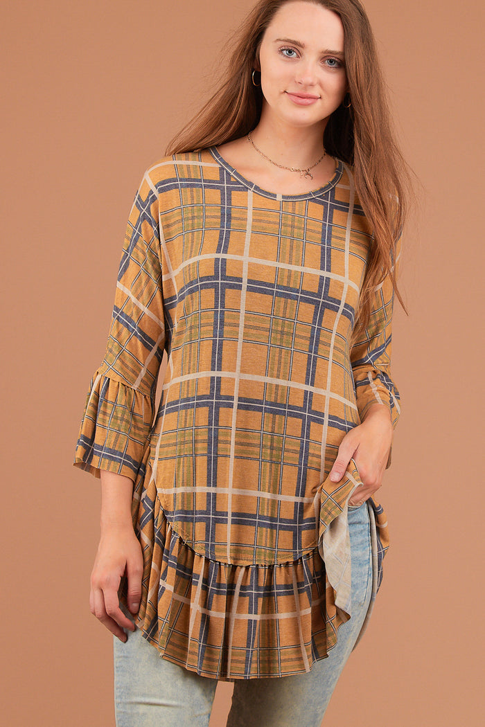 Mustard Plaid Tunic