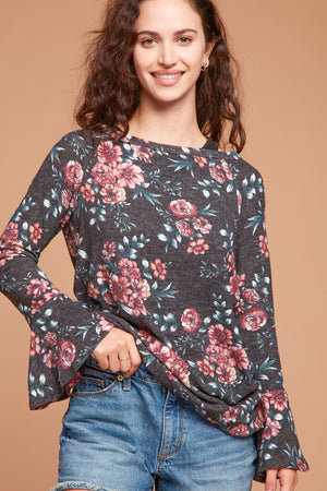 Heather Bell Sleeve Floral Top
