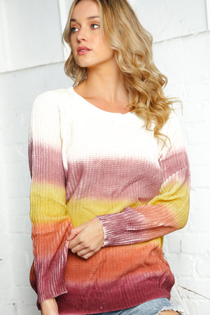 Mauve & Mocha Stripe Sweater