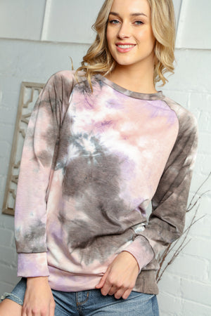 Mauve & Purple Mix Tie Dye Sweater