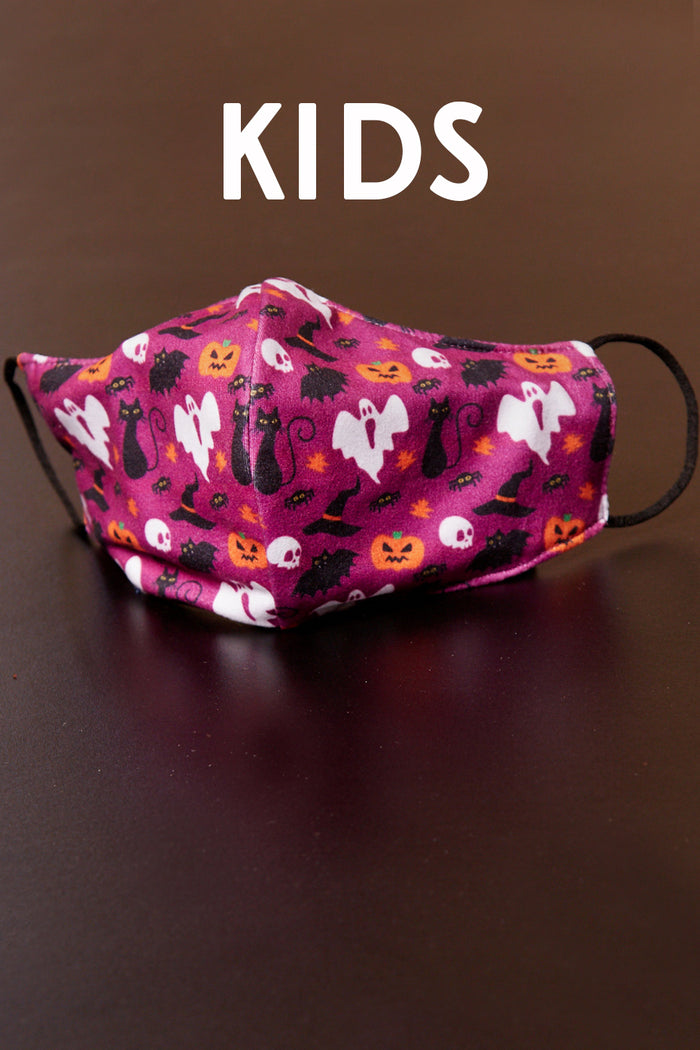 Kids Violet Halloween Face Mask (5 pc)