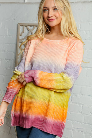 Blush & Lavender Multi Stripe Sweater
