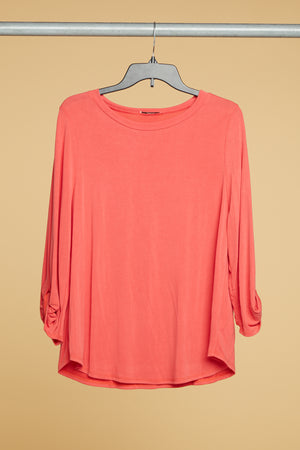 Off Rust Solid Blouse