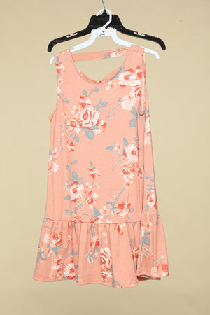 Blush Criss Cross Back Floral Tunic