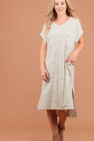 Oatmeal Thick Pocketed Dress