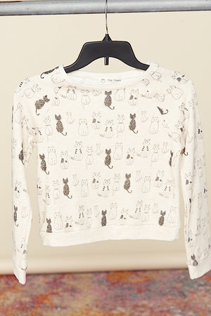 KIDS Cat Design Print Top