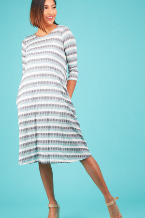Multi Stripe Pocket Dress