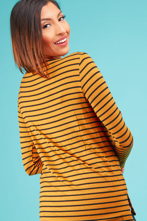 Mustard Stripe Blouse