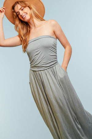 Sage Pocketed Maxi Dress