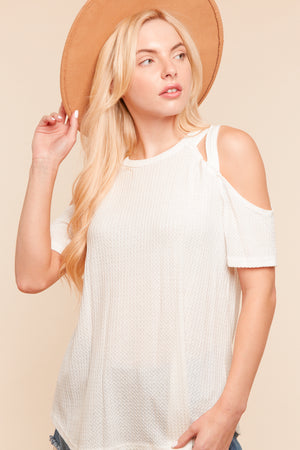 Ivory Thermal Strap Design Top