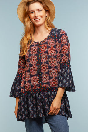 Navy Printed Tunic