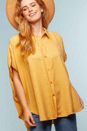 Yellow Button Down Blouse