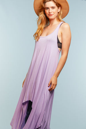 Purple Hi Lo Dress