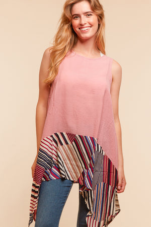 Blush Stripe Hem Tunic