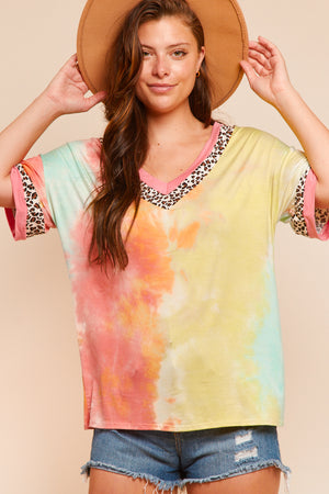 Animal & Tie Dye Blouse