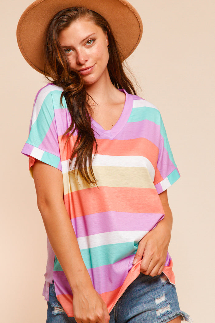 Multi Stripe Blouse