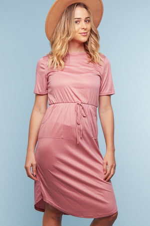 Mauve Pocketed Dress