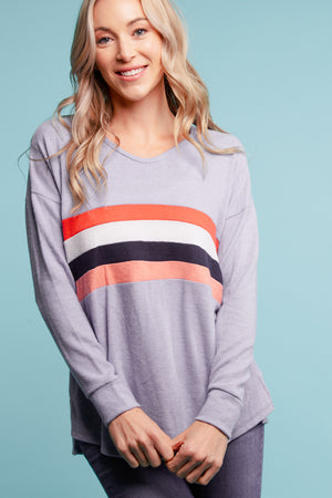 Blue Soft Stripe Sweater