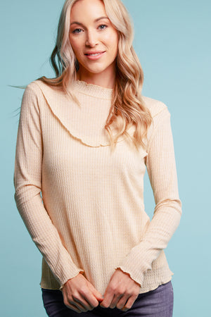 Taupe Thermal Design Blouse